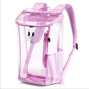 Clear Backpack Stadium Festival Bag Toploader Pink